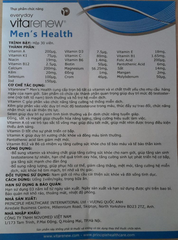 Vitarenew Men is Health